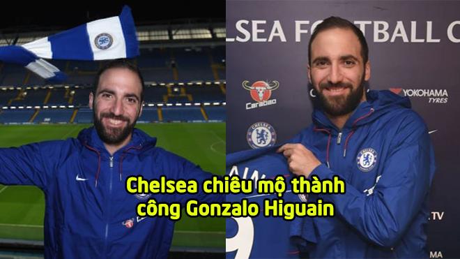 CHÍNH THỨC: Higuain đã là người của Chelsea, mang áo số 9 quen thuộc
