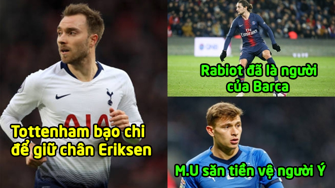 """CHUYỂN NHƯỢNG 08/1: MU sang Serie A """"săn"""" siêu tiền vệ; Rabiot chắc chắn đến Barca"""