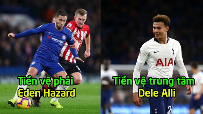 Đội hình kết hợp giữa Chelsea và Tottenham: Các học trò của Pochettino chiếm lĩnh hàng công