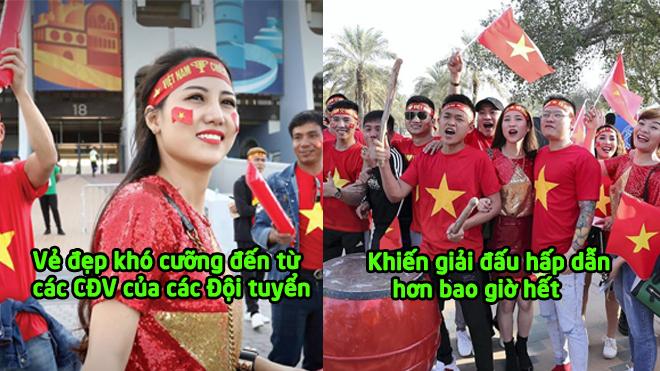 Ngắm những CĐV xinh đẹp Việt Nam và châu Á tại khán đài Asian Cup 2019: Xinh lung linh thế này ai cũng mê