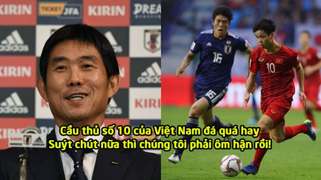 """HLV Nhật Bản: """"Chúng tôi giành chiến thắng khá may mắn, cầu thủ số 10 của Việt Nam đá quá hay"""""""
