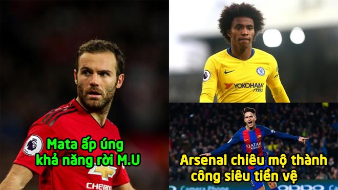 Chuyển nhượng 11/1: Juan Mata úp mở về khả năng ra đi, Arsenal chiêu mộ siêu tiền vệ