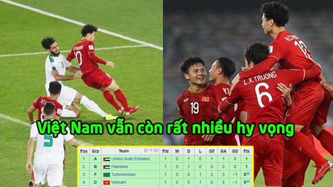 BXH các đội thứ 3 Asian Cup sau vòng đầu tiên: Việt Nam còn quá nhiều hy vọng