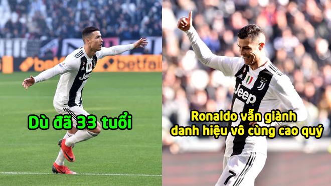 Ronaldo xuất sắc giành cú đúp giải thưởng cao quý tại Globe Soccer Awards: Nghiêng mình thán phục ông lão tuổi 33