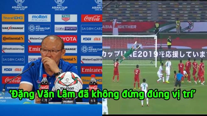 """HLV Park Hang Seo: """"Tôi không hiểu vì sao Lâm lại đứng sai vị trí trong tình huống đó"""""""