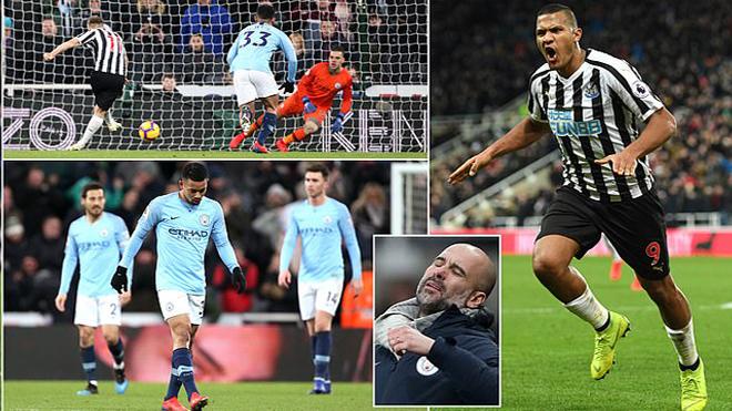 Aguero ghi bàn ở giây thứ 24, Man city vẫn phải nhận thất bại khó tin trước Newcastle