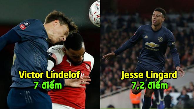 Chấm điểm Arsenal 1-3 MU: Song sát Sanchez, Lukaku gây ấn tượng mạnh