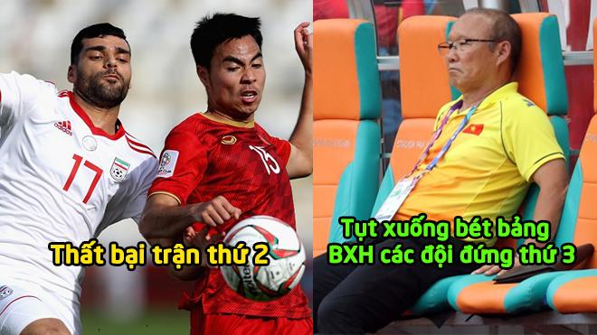 Bảng xếp hạng các đội đứng thứ 3 Asian Cup 2019, Việt Nam tụt xuống vị trí cuối cùng