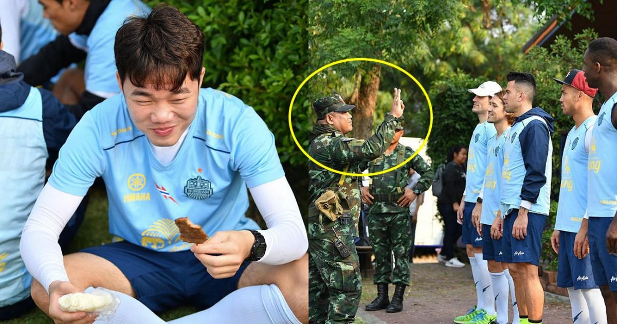 Vừa sang Buriram, Xuân Trường đã phải ăn cơm nắm lề đường, tập huấn như trong quân đội thế này đây