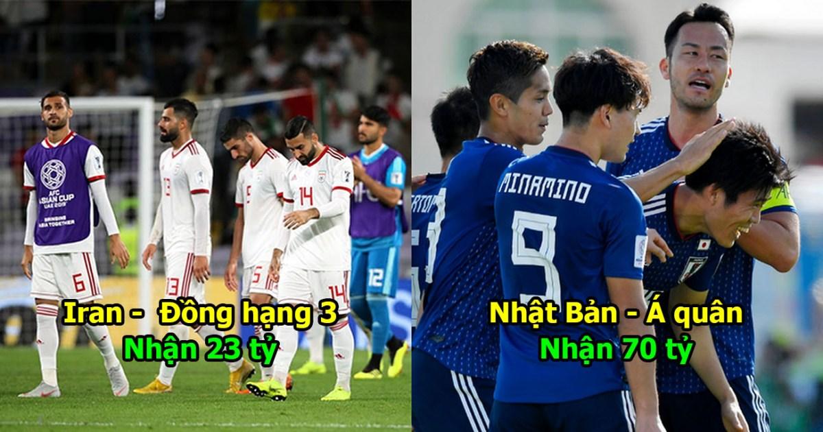 Thống kê số tiền thưởng của 24 ĐT sau Asian Cup: Việt Nam đá 1 giải bằng cả năm cày ải
