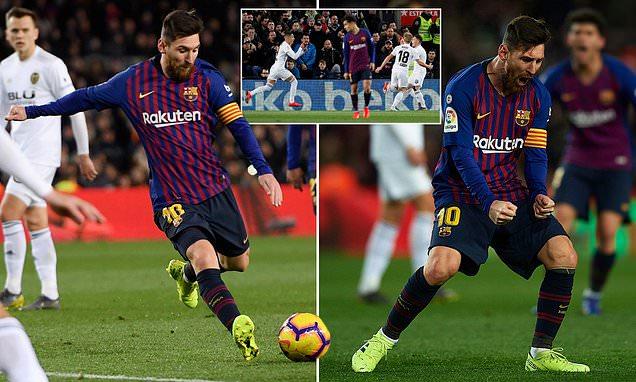 Messi lập cú đúp, Barca vất vả giành được 1 điểm từ tay Valencia