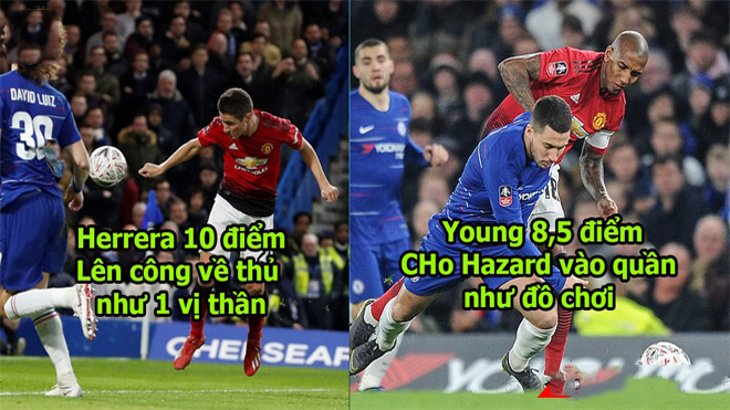 Chấm điểm trận M.U vs Chelsea: Quá nhiều điểm 10, M.U thừa sức lội ngược dòng trước PSG