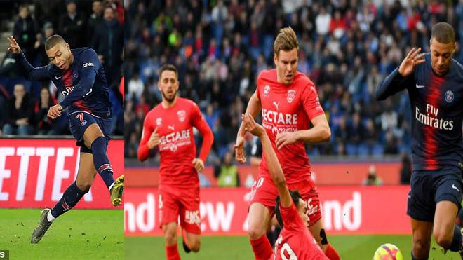 Kết quả PSG – Nimes: Lốc xoáy khó cản, chóng mặt vì Mbappe