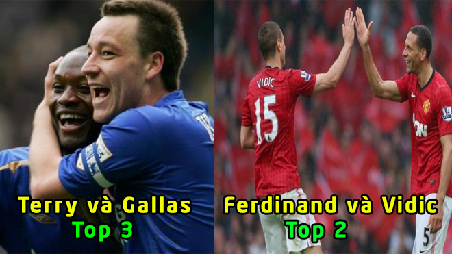 Top 10 cặp đôi trung vệ hay nhất lịch sử Premier League: Không thể tin nổi với cặp số 1