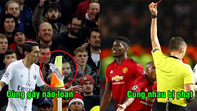 Gây náo loạn ở vòng 1/8 Champions League, cả PSG và M.U đều nhận án phạt nặng từ UEFA
