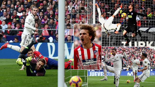Casemiro 'ngả bàn đèn' đẹp mắt, Real nhấn chìm Atletico Madrid ngay trên sân khách