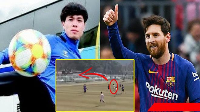Cận cảnh siêu phẩm đầu tiên của Công Phượng trong màu áo Incheon, màn solo qua 1 rừng hậu vệ chẳng khác gì Messi!