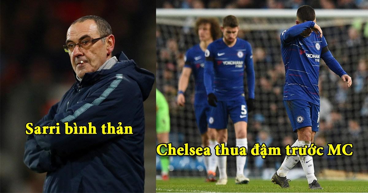 Bình thản trước trận thua bẽ bàng, CĐV Chelsea đòi sa thải HLV Sarri