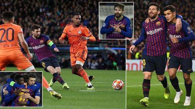 """Đáp trả mạnh mẽ """"chiến thư"""" từ Ronaldo, Messi một tay hủy di.ệt Lyon ngay trên sân nhà"""