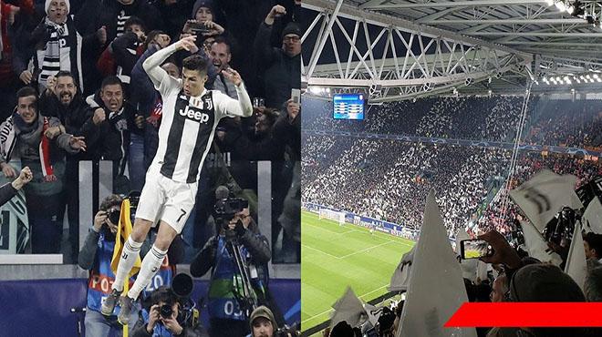 """40.000 CĐV Juventus trên khán đài đồng thanh hô """"Siiiiiiii"""" khi Ronaldo ghi bàn quyết định"""