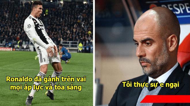 Vùi d.ập đại gia Bundesliga đến 7 bàn không gỡ, Pep Guardiola vẫn run rẩy khi nhắc đến Ronaldo