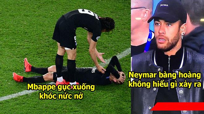 CHÙM ẢNH: Neymar thất thần nhìn đồng đội suy sụp đổ gục xuống sân sau thất bại khó tin trước M.U