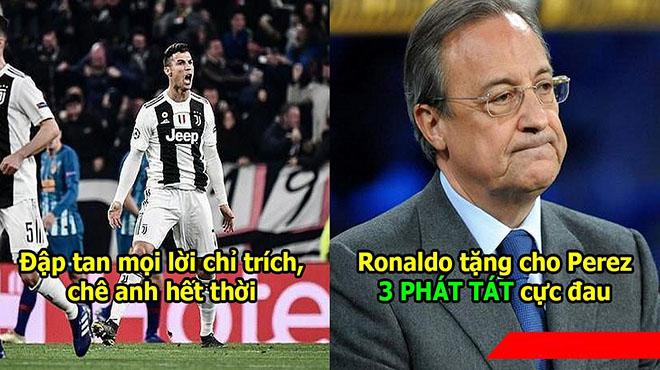 Ronaldo 1 mình cân Team giúp đội nhà ngược dòng vĩ đại, CĐV Juve đòi xem phản ứng chủ tịch Real