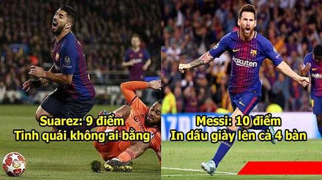 Chấm điểm Barca 5-1 Lyon: Điểm 10 tuyệt đối cho thiên tài Messi