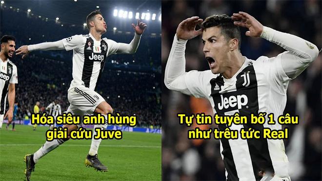 Giải cứu Juventus thành công, Ronaldo tự tin phát biểu 1 câu như trêu tức Real