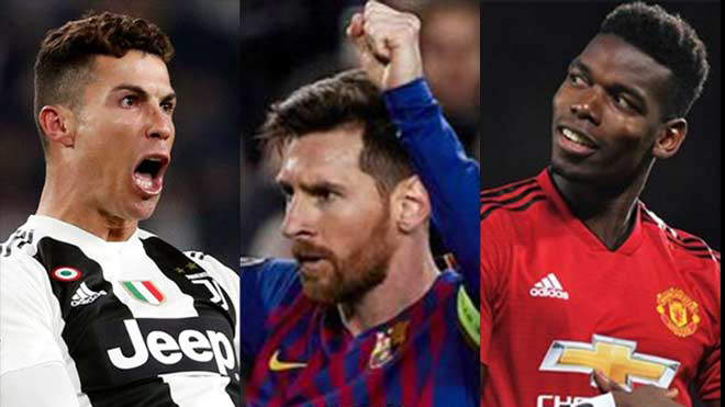 Trước bốc thăm tứ kết Cúp C1: Pogba chen chân làm điều này để đấu Messi & Ronaldo tranh QBV
