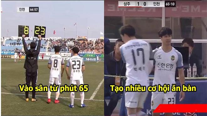 Công Phượng vào sân phút 65, suýt kiến tạo thành bàn cứu nguy cho Incheon United