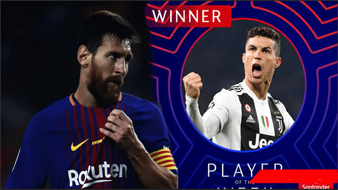 Vượt qua Messi, Ronaldo nhận giải cầu thủ xuất sắc nhất Champions League