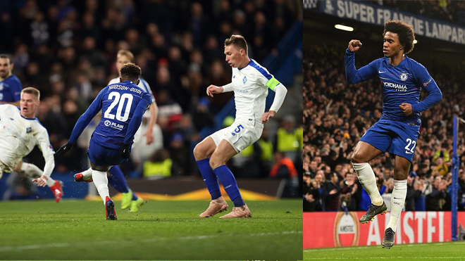 Kết quả Chelsea – Dynamo Kiev , Chiến thắng 3 sao, đặt một chân vào tứ kết