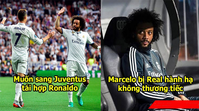 Ủ mưu sang Juventus với bạn thân Ronaldo và đây là cách Marcelo bị Real 'trừng phạt'