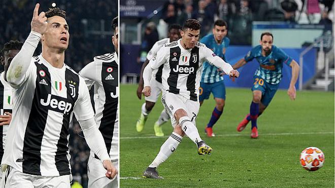 Ronaldo tỏa sáng như một vị thần, Juve ngược dòng thần kỳ trước Atletico, tiến thẳng vào Tứ kết Champions League