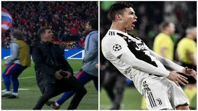 Một tay k.ết li.ễu Atletico, Ronaldo nhái lại pha ăn mừng của Diego Simeone khiến fan hả hê như này đây!