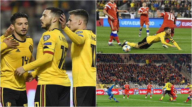 Kết quả Bỉ vs Nga: Courtois sai lầm ngớ ngẩn, Hazard rực sáng giải nguy