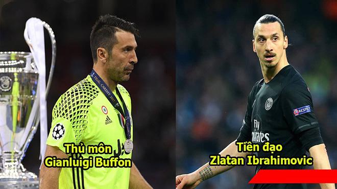 Đội hình gồm 11 huyền thoại chưa từng vô địch Champions League: Ronaldo và 3 Quả bóng Vàng