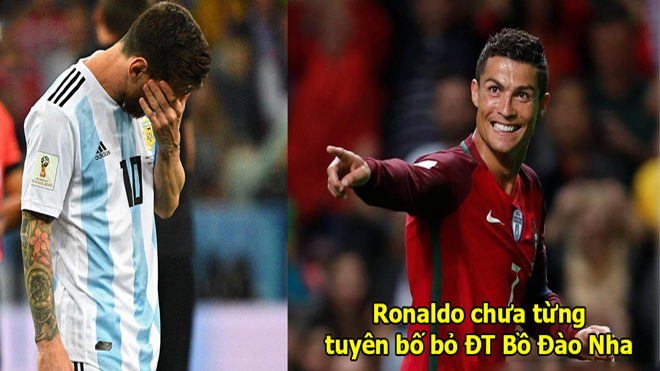 Dù muốn hay không, Messi vẫn phải cúi đầu bái phục Ronaldo ở những điểm này