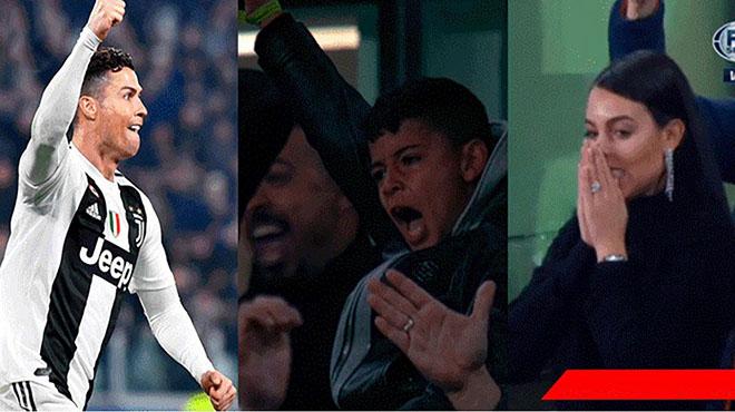 Ronaldo hóa siêu anh hùng, vị hôn thê và con trai ngồi trên khán đài mắt ngấn lệ, tự hào vô bờ bến