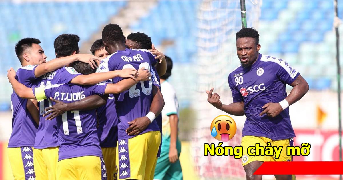 Ngoại binh chân gỗ hóa vàng, Hà Nội trút cơn mưa bàn thắng vào lưới Yangon trong buổi chiều đầy nắng ở Myanmar
