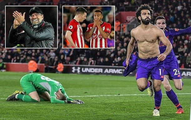 Vua Ai Cập chói sáng thần thánh, Liverpool ngược dòng ấn tượng trước Southampton, chiếm lấy ngôi đầu bảng
