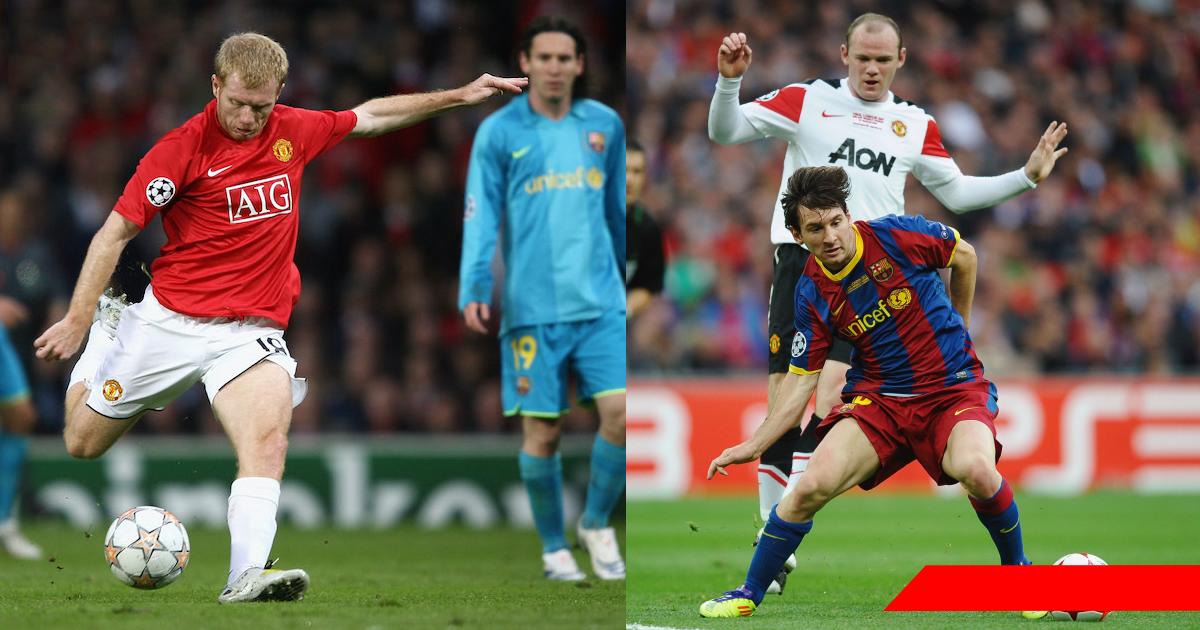 Những trận cầu đáng nhớ nhất giữa MU và Barca: Cú nã đại bác của Scholes và bàn tay run rẩy của Sir Alex