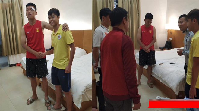 Đàn em Quang Hải đến thăm hỏi và xin lỗi cầu thủ Trung Quốc sau vụ đấᴍ cʜảʏ ᴍáᴜ ᴍặᴛ