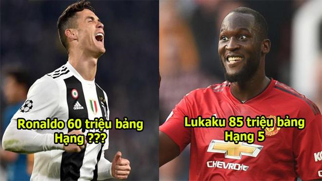 10 trung phong cắm đắt giá nhất hành tinh: Càng ngày càng béo, Lukaku vẫn cho Ronaldo hít khói