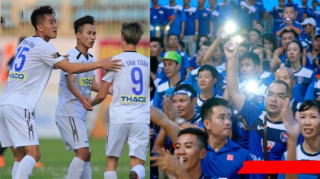Quá khó chịu với CĐV Quảng Ninh, 1 cầu thủ HAGL đã chửi thẳng vào mặt các CĐV đội khách