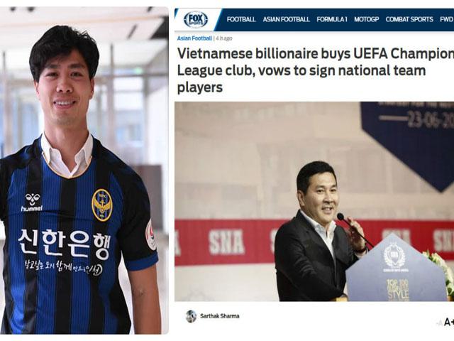 Tỷ phú Việt mua CLB dự cúp C1: Đội hình trị giá 242 tỷ, sở hữu SAO triệu euro, sắp đưa Công Phượng, Quang Hải ra biển lớn
