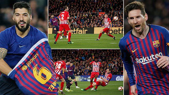 Song sát Messi – Suarez thi nhau lập công, Barca nhẹ nhàng hạ gục Atletico, cuộc đua tại La Liga coi như đã ngã ngũ
