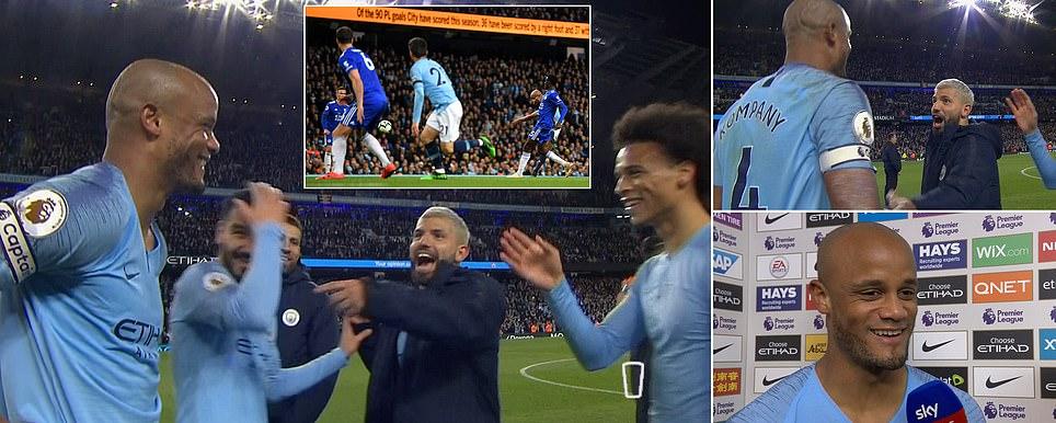 Đội trưởng Kompany nã đại bác cháy lưới, Man City hủy hoại hy vọng vô địch của Liverpool