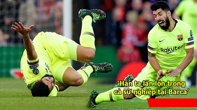 Liên tục đóng kịch ăn vạ, Luis Suarez nhận cơn mưa gạch đá từ cộng đồng mạng